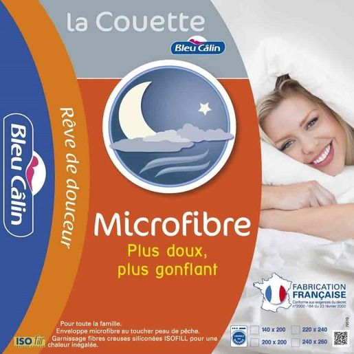 Couette chaude microfibre - 240 x 220 cm - Blanc