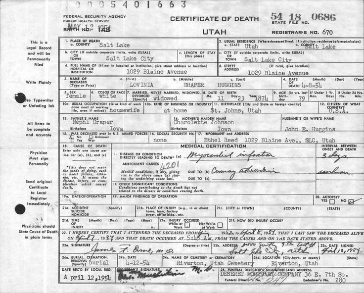 Genealogy Death Records Search Online - Ancestry Search