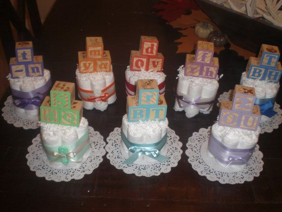 Baby Block Baby Shower Centerpiece