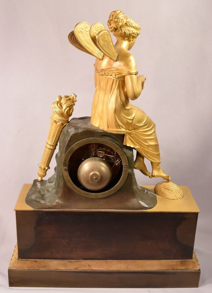 Ultimate Extraordinary Antique Gilt Bronze French Clock Fairy Holding Bumble Bee   eBay
