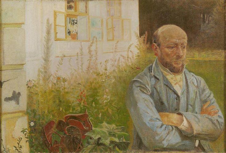 Jacek Malczewski - Portrait of Piotr Dobrzanski in the Garden