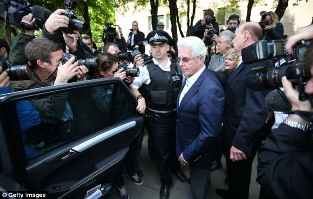 Max Clifford leaves Southwark Crown Court after being found guilty yesterday afternoon...