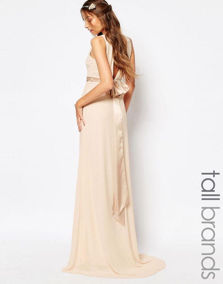TFNC+Tall+WEDDING+Sateen+Bow+Back+Maxi+Dress