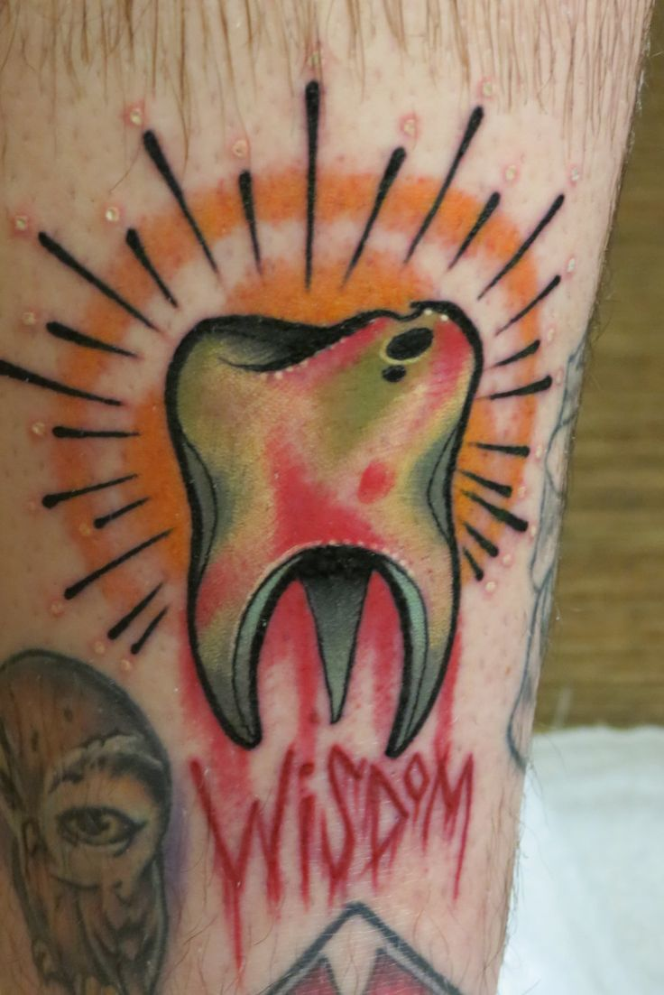 """""""Wisdom Tooth Tattoo by ~Nelby2388 on deviantART"""" SINCE I did not get to keep my wisdom teeth that were extracted in March, I would love to have a memorial tattoo! This is the idea I was thinking of! Only, of course, I would have different details!"""