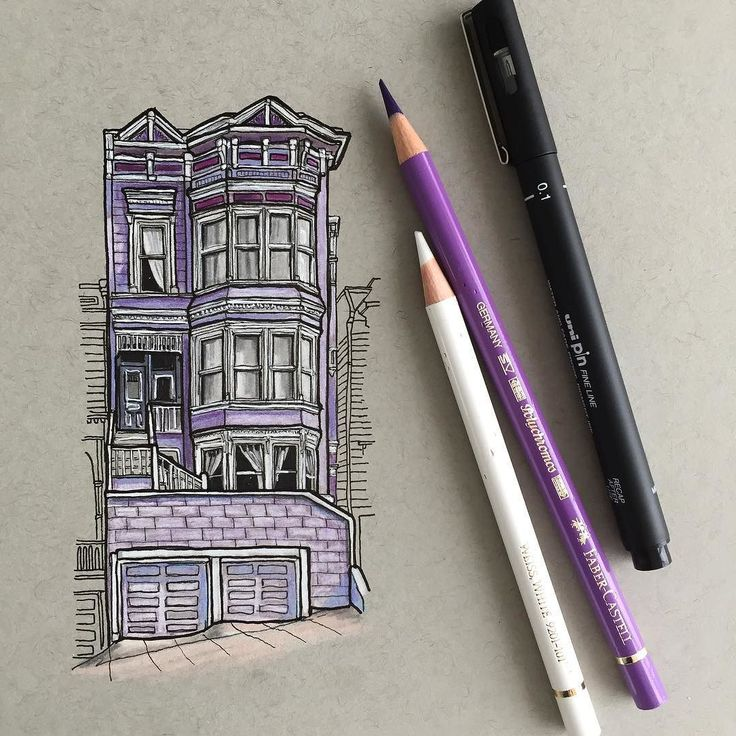 A quick morning sketch... #art #drawing #pen #pencil #sketch #illustration #linedrawing #architecture #house