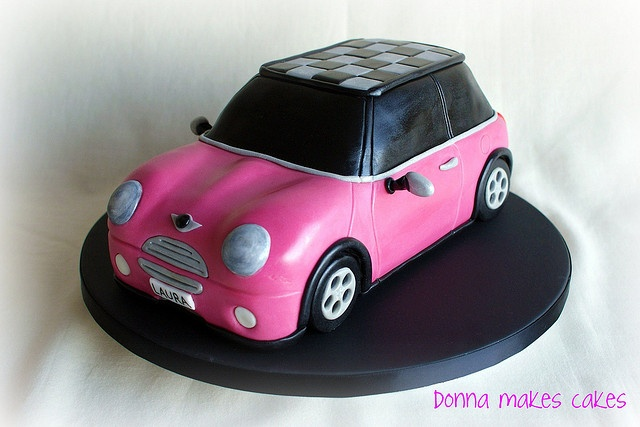 Pink Mini Cooper Cake by donna_makes_cakes, via Flickr