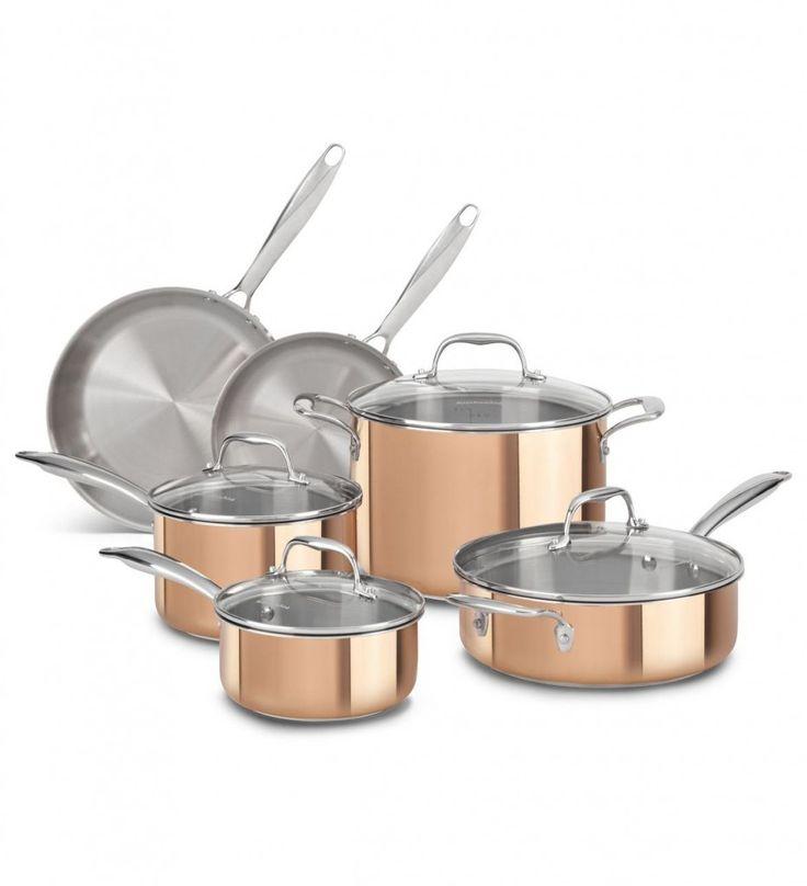 Kitchen Aid Tri Ply Copper 10 Piece Set Fantastic Design