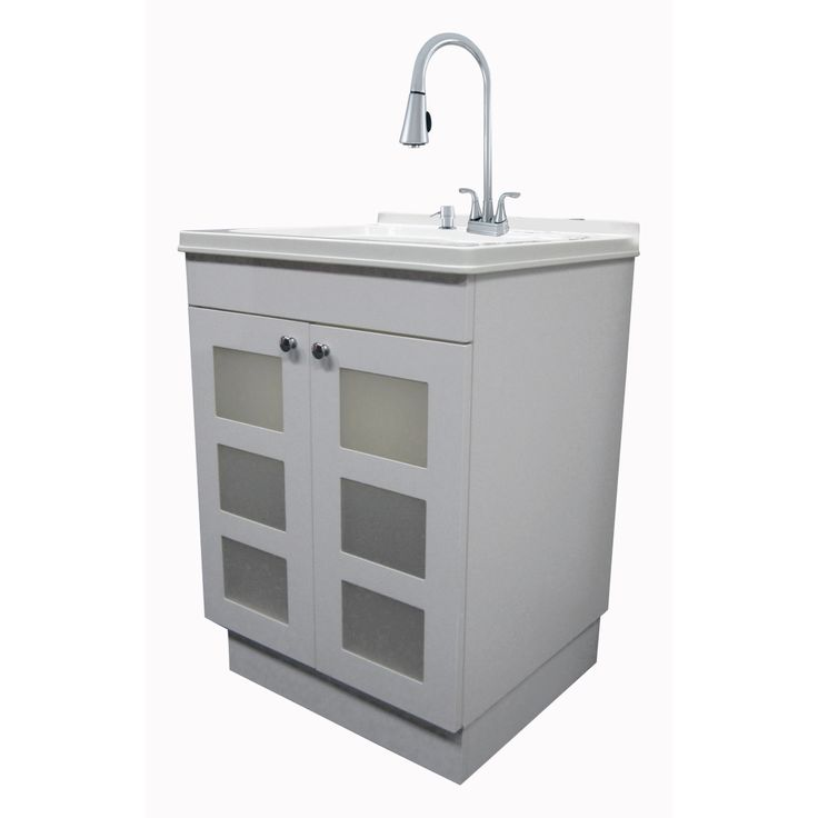 exquisite utility sink and cabinet kit 040 7712cp sd