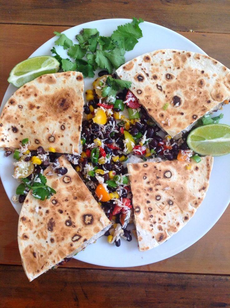 Black Bean, Haloumi and Corn Quesadillas