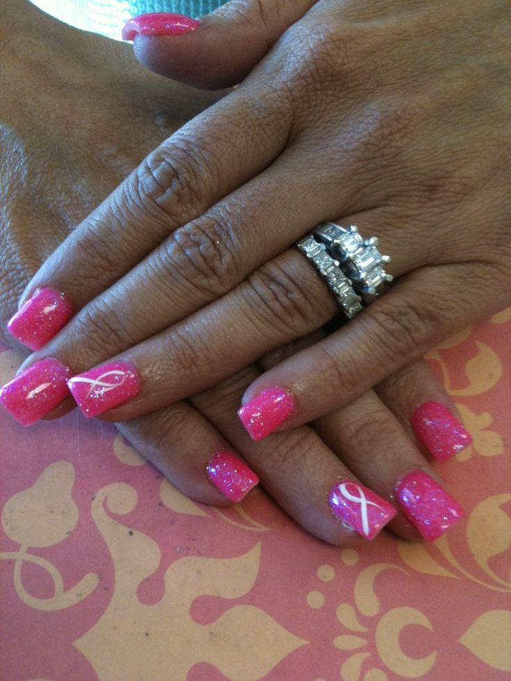 Breast Cancer Awareness.: Cancer Awareness Lov, Awareness Manicures, Breast Cancer Awareness, Breast Cancer Ribbons Nails, Pink Ribbons, Cancer Nails, Nails Ideas, Acclaim Cour, Awareness Nails