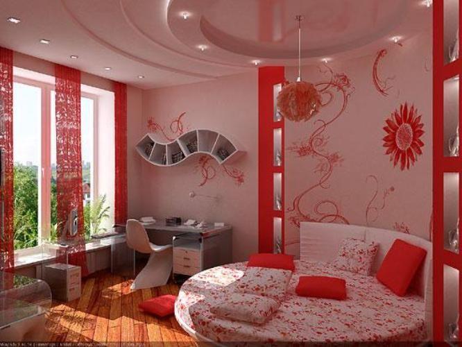 коралловая спальня