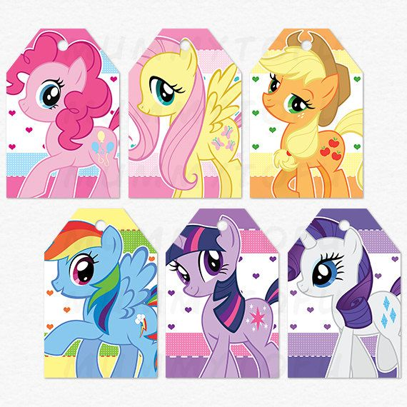 My Little Pony Birthday Party Thank You Favor Tags por mummytofu