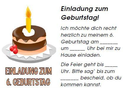 einladung für kinder – vorlage kostenlos zum ausdrucken | deutsch, Einladungsentwurf