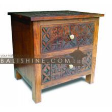 Balishine: Your natural source of indonesian handicraft presents in its Home Decor collection the BEDSIDE:114MNF305966:This bedside with 2 d...