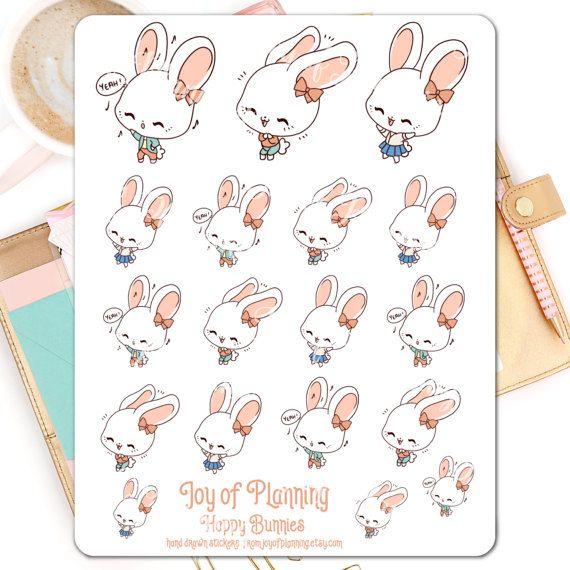 Happy planner stickers planning emotion stickers by JoyofPlanning