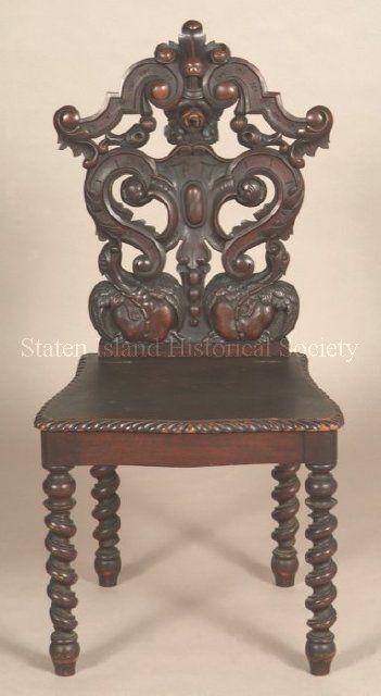 ~ Hall Chair - Renaissance Revival Style ~ statinisland.pastperfect-online.com
