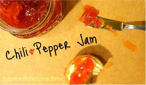 Thermomix Chili Jam - reduce sugar by half and add an extra chilli for more zing!