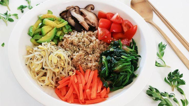 [다이어트 음식] 비빔밥 만들기 +  양념 고추장 황금레시피, 비건 레시피!