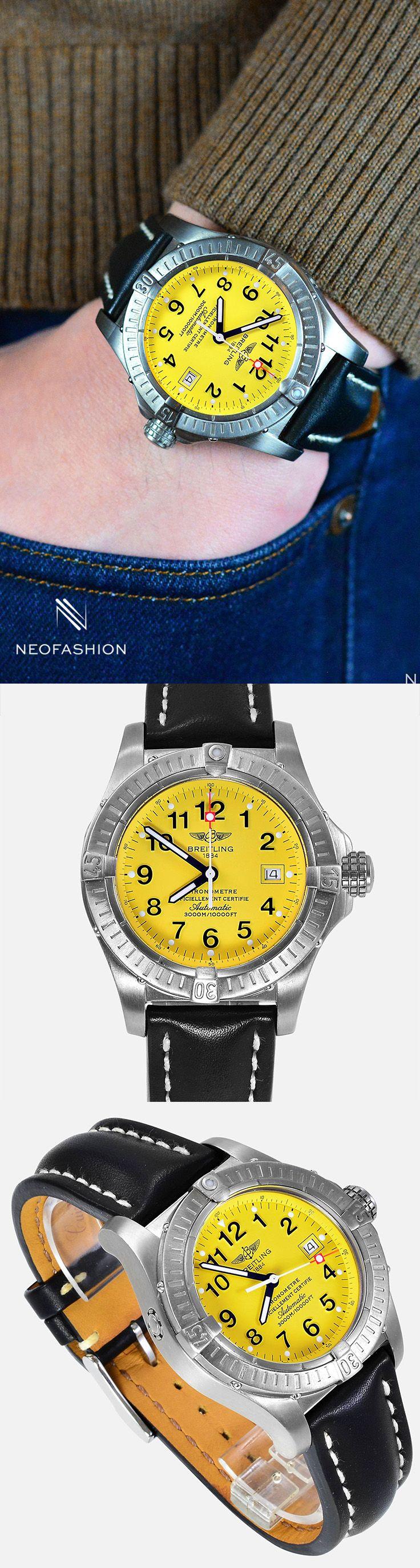 Breitling Seawolf Avenger Titanium Yellow Dial E17370  #Breitling