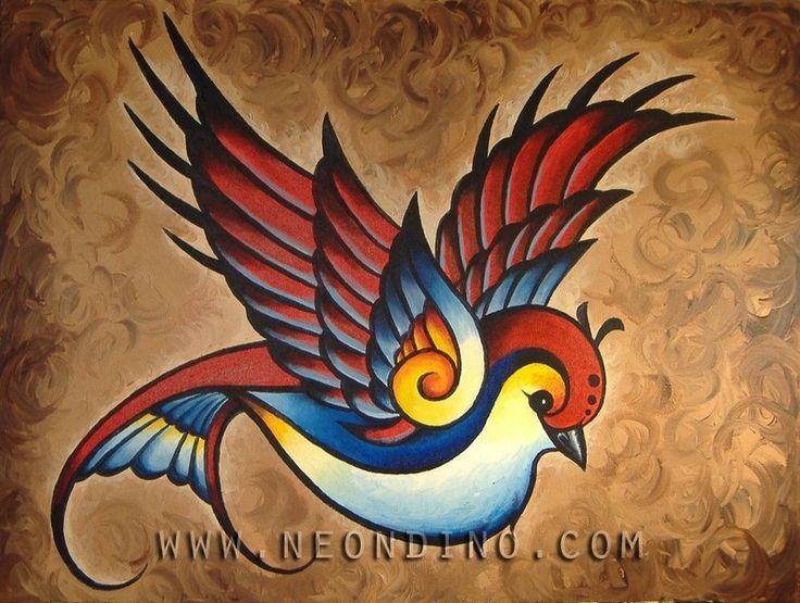 I like birds. Acrylic on canvas