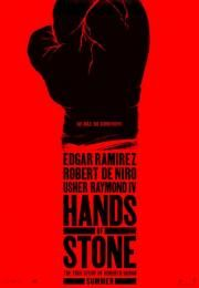 """Hands of Stone        Hands of Stone      Ocena:  6.60  Žanr:  Action Biography Drama Sport  """"No mas. No surrender.""""Follows the life of Roberto Duran who made his professional debut in 1968 as a 16-year-old and retired in 2002 at age 50. In June 1980 he defeated Sugar Ray Leonard to capture the WBC welterweight title but shocked the boxing world by returning to his corner in the November rematch saying 'no mas' (no more).  Glumci:  Edgar Ramirez Robert De Niro Usher Raymond Ruben Blades Ana…"""