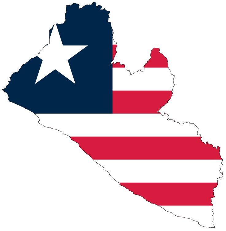 Liberia Flag Map - Mapsof.net