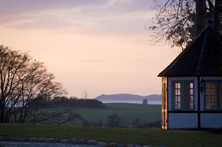 The sun sets over Dragsholm Castle. Located in Odsherred, Denmark. www.dragsholm-slot.dk