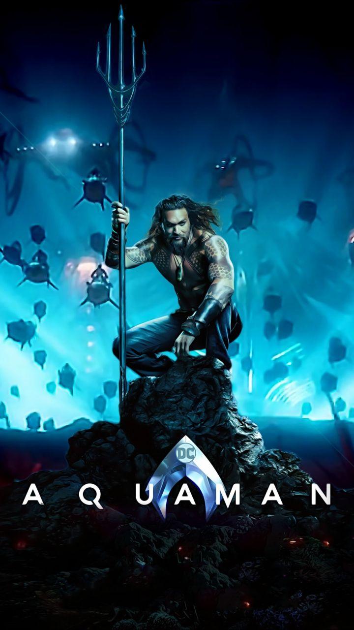 Artwork, Jason Momoa, Aquaman, movie wallpaper ...