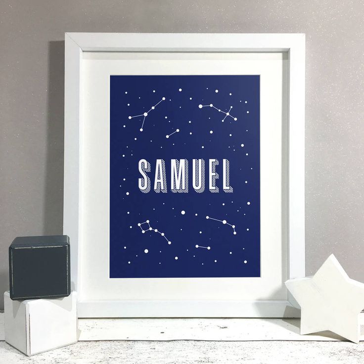 Personalised Constellation Name Nursery Kids Room Print