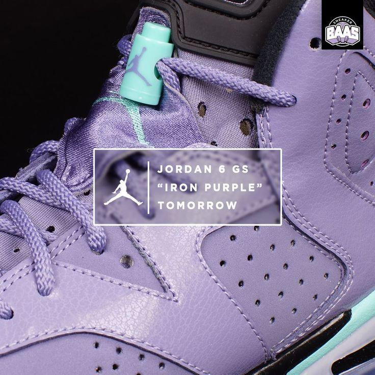 "Air Jordan 6 GS ""Iron Purple"" | Tomorrow! HEAT! LADIES GO! | www.sneakerbaas.nl | #air #jordan #iron #baasbovenbaas"