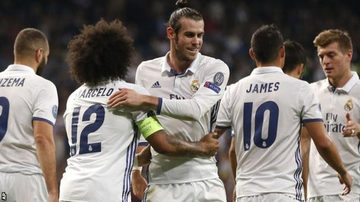 Gareth Bale scored his first Champions League goal since 2014 as holders Real Madrid comfortably beat Legia Warsaw.