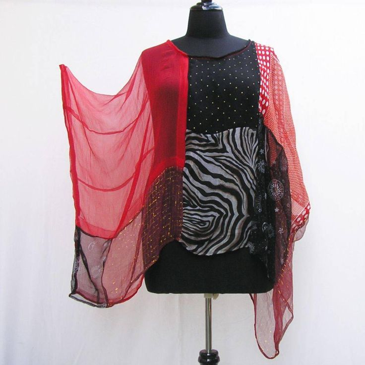 Red and black caftan, Plus size Kaftan, plus size tunic, cover up, boho caftan 1x 2x 3x 4x 5x 6x, red caftan patchwork tunic, upcycled tunic by Rethreading on Etsy