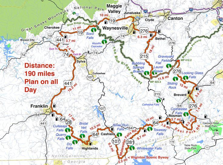 Smoky Mountains Waterfalls Motorcycle Ride