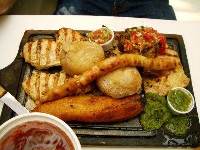 La comida en Colombia.