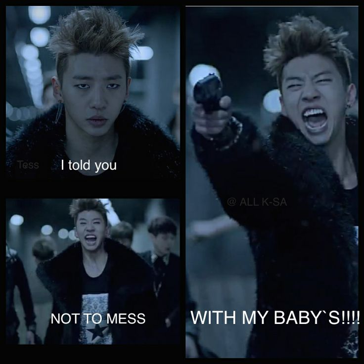 Don`t mess with BAP`s Babies.  Yong Guk