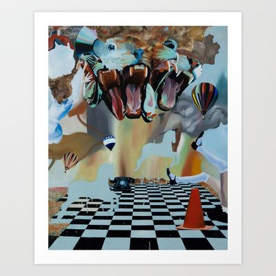 kingdom of imagination#2  Art Print by Woojung Son - $20.00