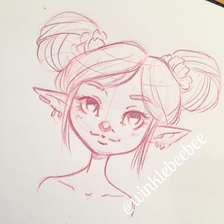 how to draw a cute elf
