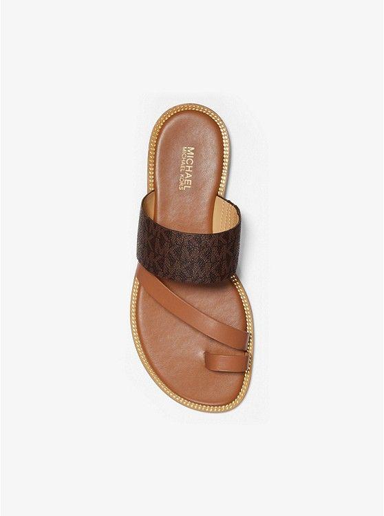 bed9c5d899510 MICHAEL Michael Kors Pratt Logo and Leather Sandal in 2019 | Summer ...