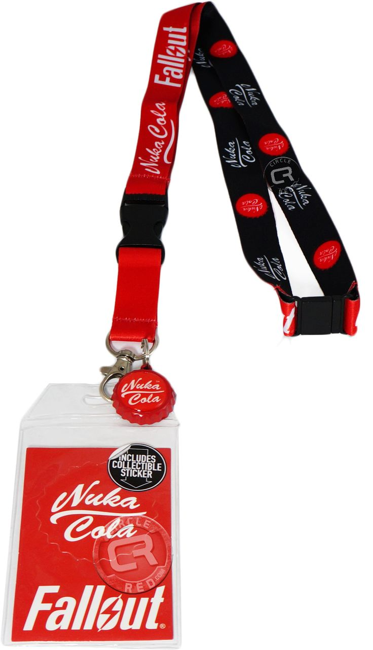 Fallout Nuka Cola Lanyard with ID Holder and Cola Bottle Cap