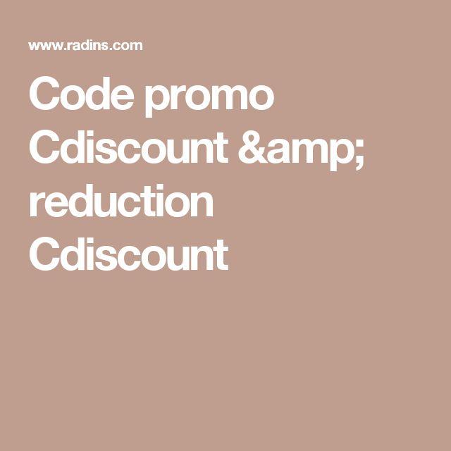 Code promo Cdiscount & reduction Cdiscount