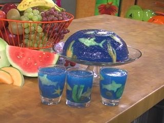 An Edible Jell-O Aquarium