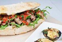 Steak sandwich, stuffed mushrooms - Jamie Oliver