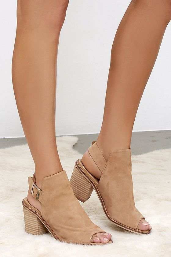 Chinese Laundry Caleb Natural Suede Leather Ankle Booties at Lulus.com! 130 dollars