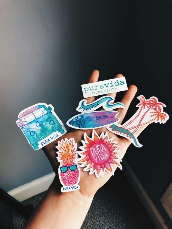 Vsco Torreboldon Pura Vida Brand Stickers Preppy
