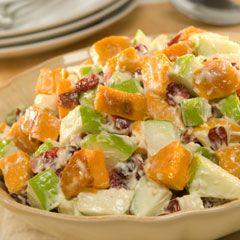 Roasted Sweet Potato Salad #HappyBirthdayHellmanns