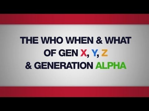 The Who, When and What of Gen X, Y, Z & Generation Alpha - Mark McCrindle, McCrindle Research - YouTube