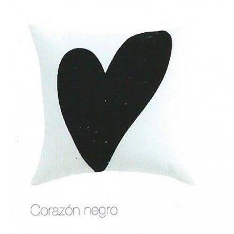Cojín Corazón Negro