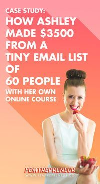 How to make an income from a small email list // Femtrepreneur