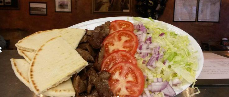 Gyro Platter Gyro Meat with Lettuce, Tomato, Onion & Tzatziki Sauce
