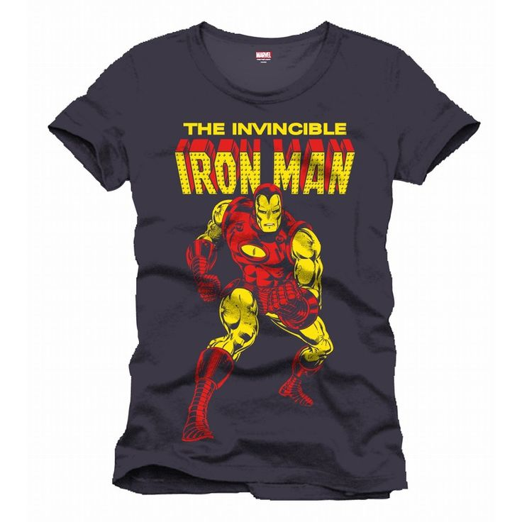 Tee-Shirt Gris The Invincible Iron Man
